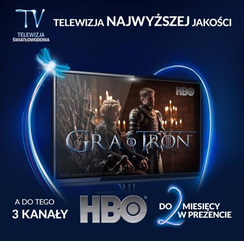 Telewizja Światłowodowa z HBO w prezencie