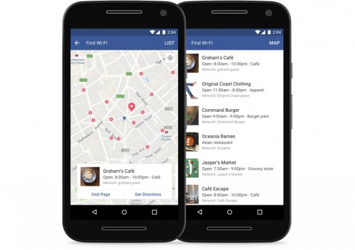 Facebook - Znajdź Wi-Fi