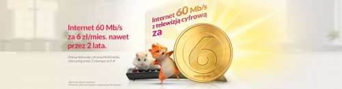 Multimedia Polska - Internet 60 Mb/s