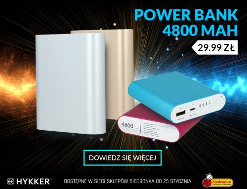 Hykker Power Bank 4800 mAh od czwartku w Biedronce za 29,99 zł