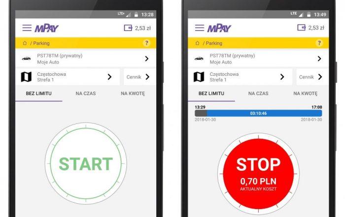 mPay - płatności za parkowanie w aplikacji