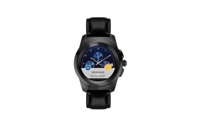 ZeTime Premium Brushed black Black flat leather Front view Watchface9