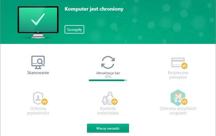 Kaspersky Free - okno główne