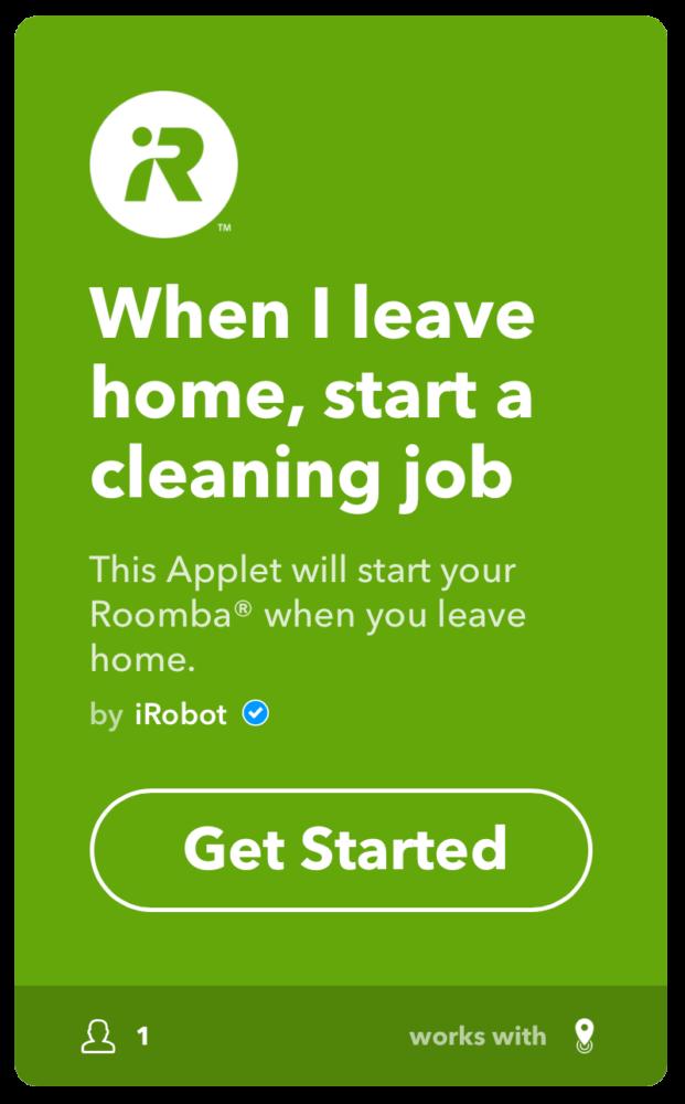 IFTTT Roomba StartCleaningJob