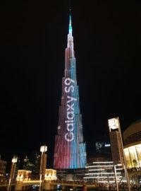 Samsung - pokaz świetlny na Burj Khalifa