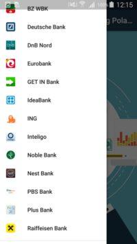 Aplikacja Bankowość uniwersalna Polska   lista banków cz2