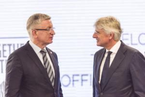 Prezydent Poznania Jacek Jaskowiak i Harold Goddijn TomTom CEO