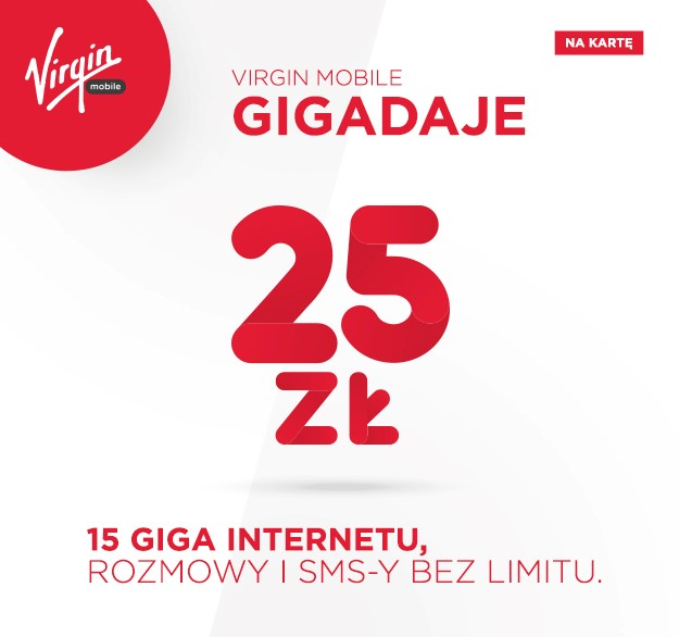 Virgin Mobile gigadaje 25zl