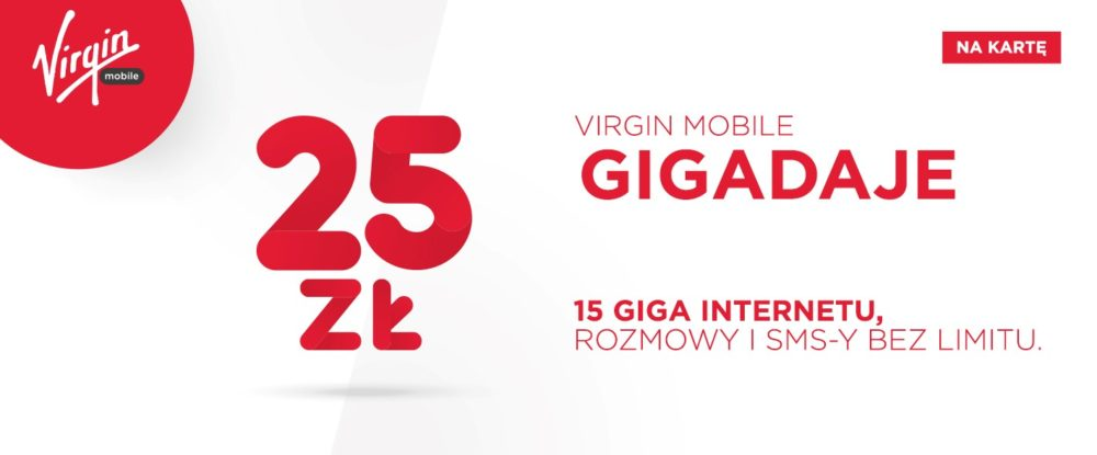 Virgin Mobile gigadaje 25zl na karte