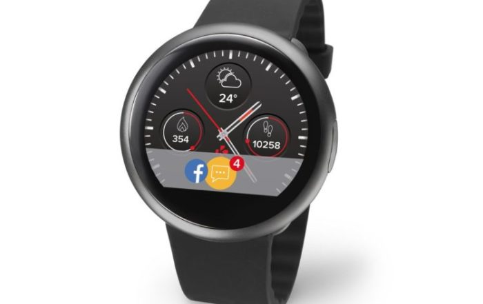 ZeRound2 Black Silicon 3 4 view Watchface