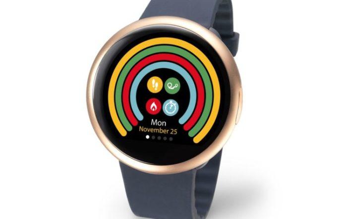 ZeRound2 Blue Silicon 3 4 view Watchface