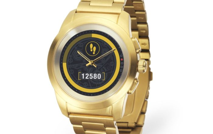 ZeTime Elite Brushed yellow gold Metal link 3.4 view Steps