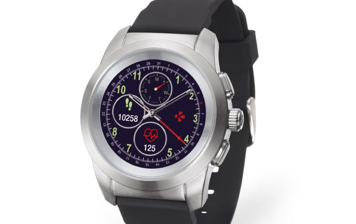 ZeTime Brushed silver Black Silicone 3.4 view Watchface