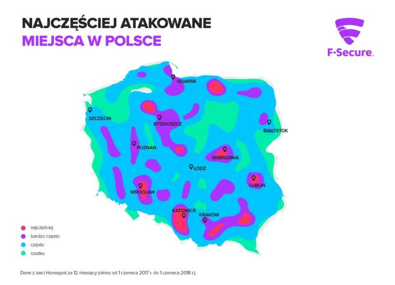 Najczesciej atakowane miejsca w Polsce