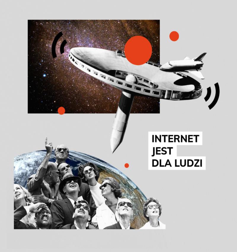 Grafika Internet jest dla ludzi