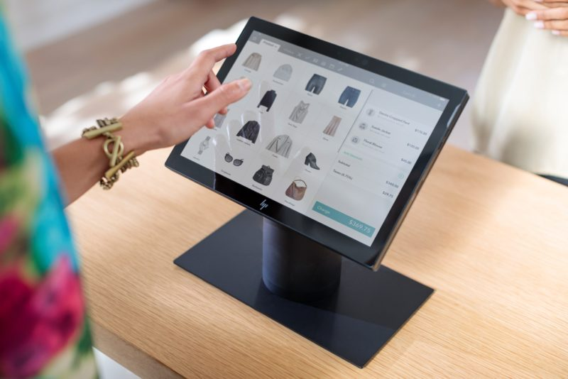 HP Engage Go Convertible System black retail store 5