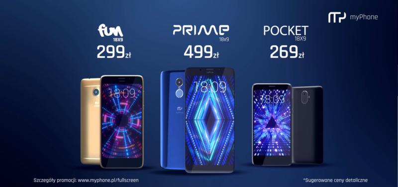 Promocja smartfony myPhone 18x9 2