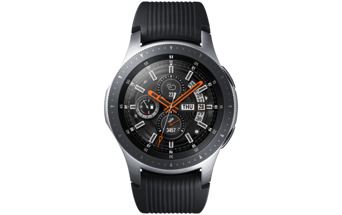 galaxy watch front silver