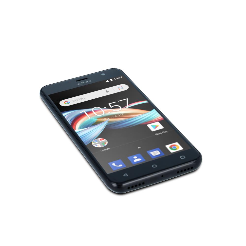 myphone FUN 6 LTE szary front dol prawy