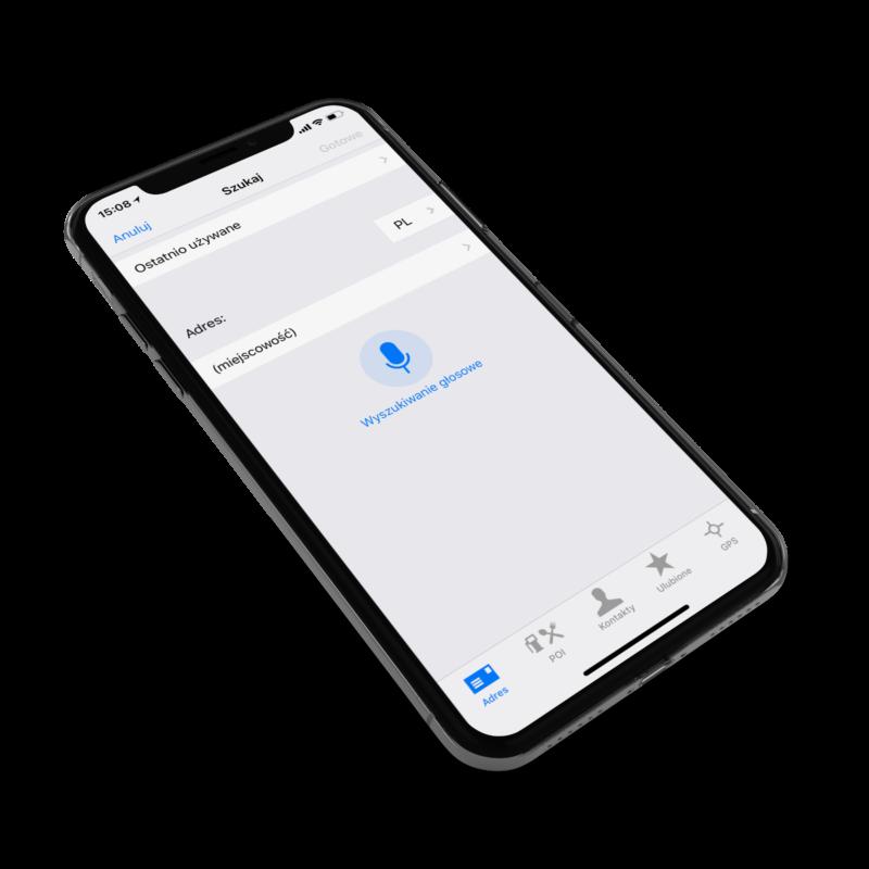 AutoMapa iOS voice