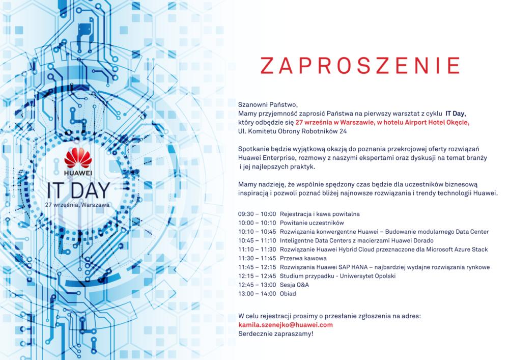 IT Day Zaproszenie