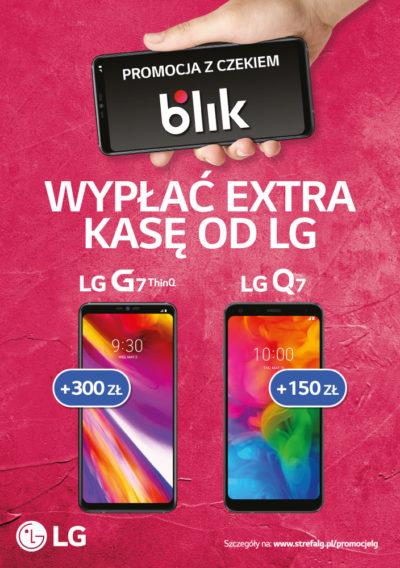 LG promocja z czekiem Blik