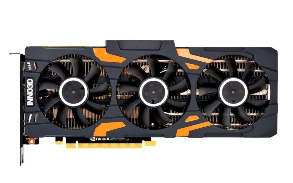 karta NVIDIA GeForce RTX 2080 potrójne chłodzenie