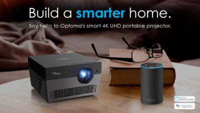 Optoma UHL55 – przenośny projektor 4K ze wsparciem dla Amazon Alexa i Asystenta Google