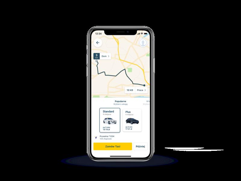 Taxify możliwość wyboru Klasy Usługi 2