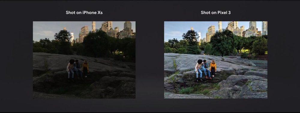 tryb Night Sight w Pixel 3 i 3 XL