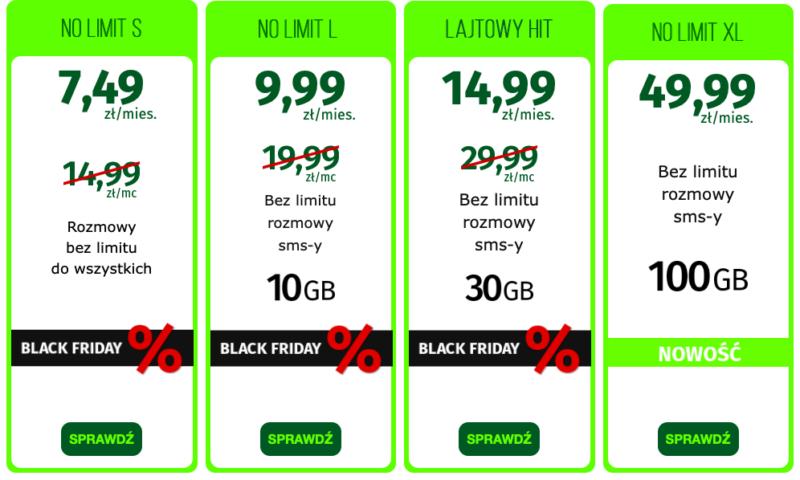 Black Friday w lajt mobile - abonamenty połowę taniej! 1