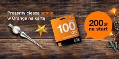 200 zł na start w Orange na kartę