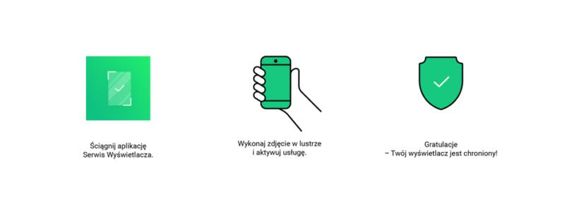 Usługa Serwis Wyświetlacza w aplikacji dostępna w sieci Plus 3