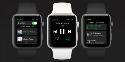 Muzyczny serwis Spotify przedstawił aplikację do Apple Watch