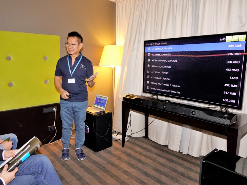 Europejska premiera Soundbara X-FI Sonic Carrier na Targach Audio Video Show 2018 1