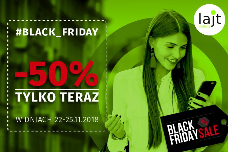 Black Friday w lajt mobile - abonamenty połowę taniej!