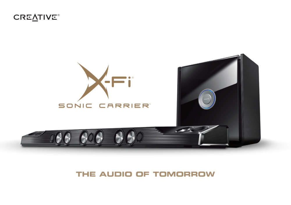Europejska premiera Soundbara X-FI Sonic Carrier na Targach Audio Video Show 2018