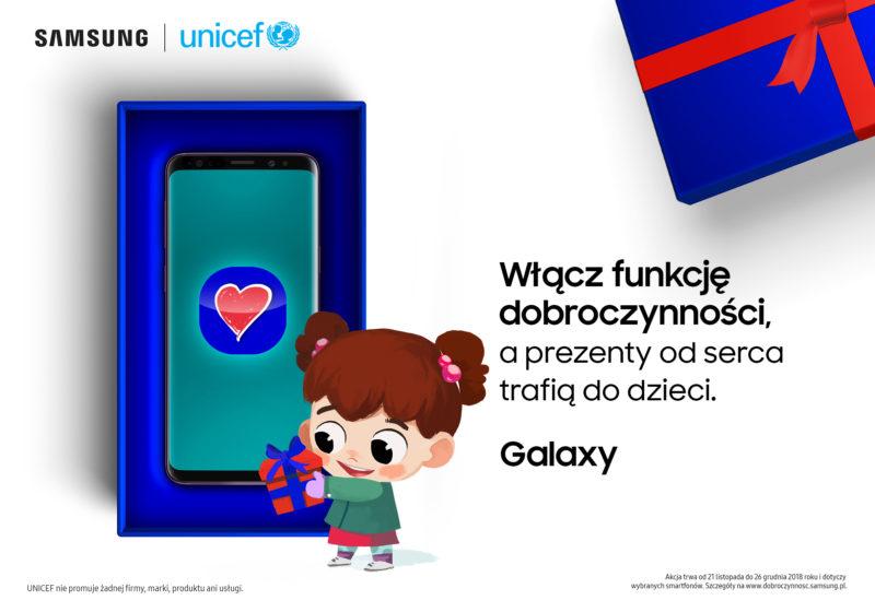 Samsung prezentuje nową funkcję smartfonów Galaxy #FunkcjaDobroczynnosci