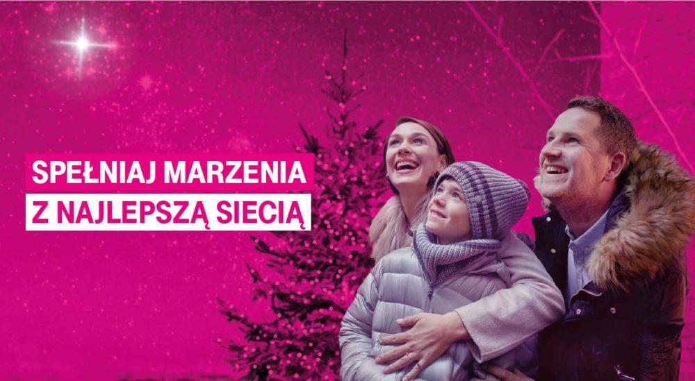 Spełniaj marzenia z najlepszą siecią i spraw najbliższym świąteczne podarunki w T‑Mobile 1