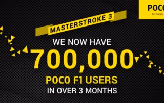 Firma Xiaomi sprzedała w ciągu trzech miesięcy ponad 700 000 smartfonów Pocophone F1