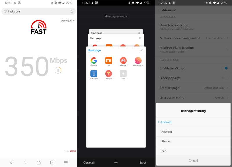 Xiaomi Mint – szybka przeglądarka dla systemu Android 2