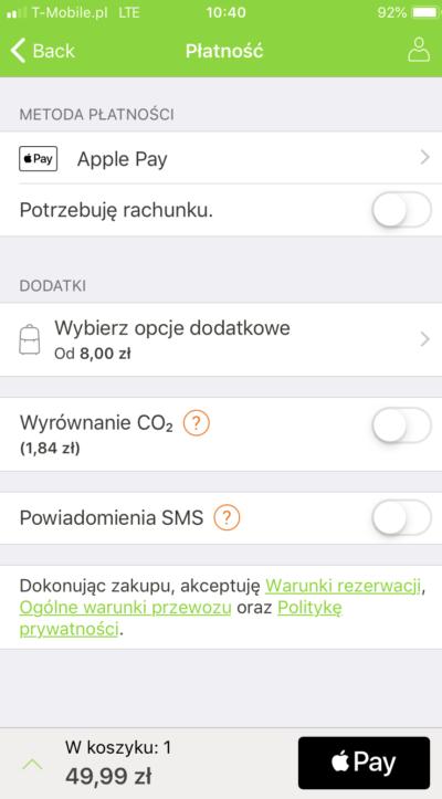 FlixBus wprowadza płatności Apple Pay 2