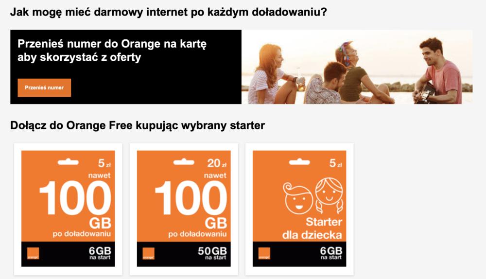 Orange promocja
