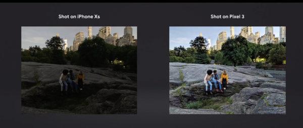 Google pokazał przewagę Pixel 3 nad iPhone XS 2