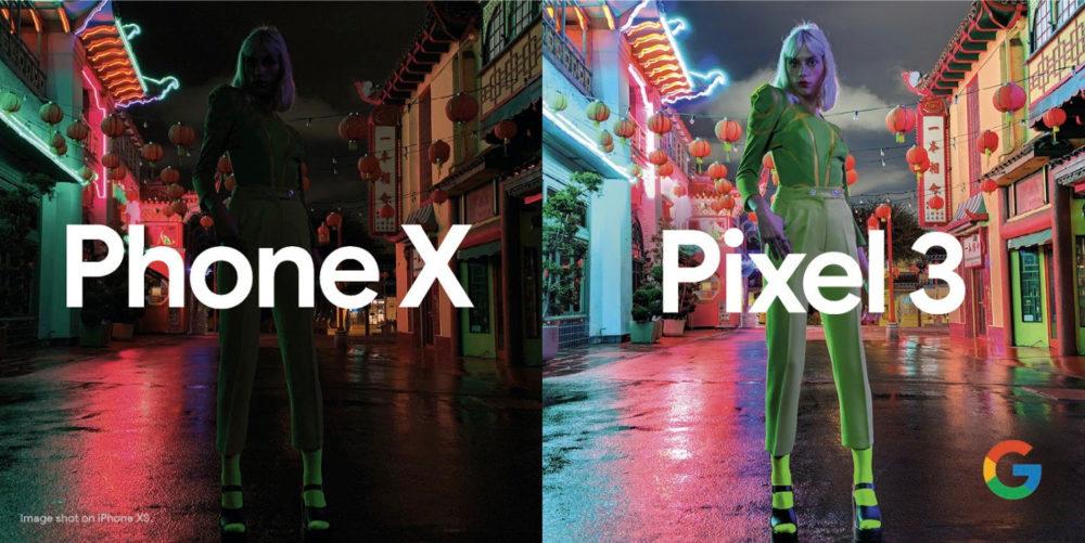 Google pokazał przewagę Pixel 3 nad iPhone XS