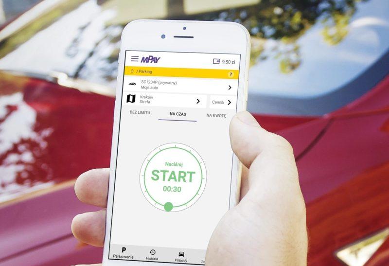 Aplikacja mPay w krakowskiej strefie płatnego parkowania 1
