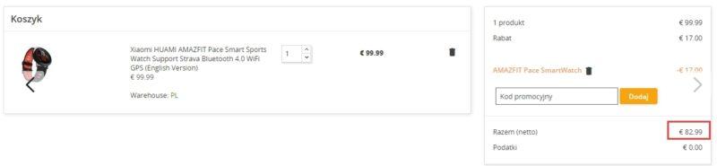 Inteligentny zegarek HUAMI AMAZFIT od Xiaomi w promocyjnej cenie na geekbuying.pl