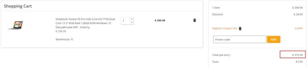 Laptop Notebook Teclast F6 Pro w promocyjnej cenie Geekbuying