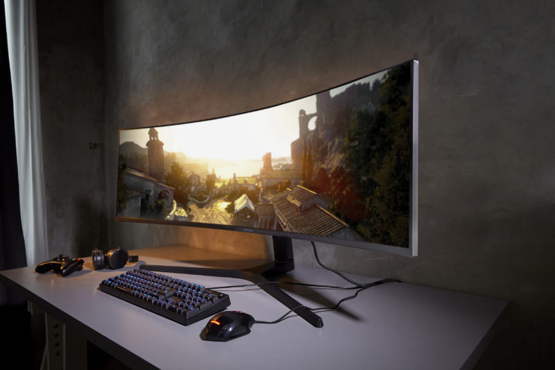 Samsung CRG9 super wide monitor 2
