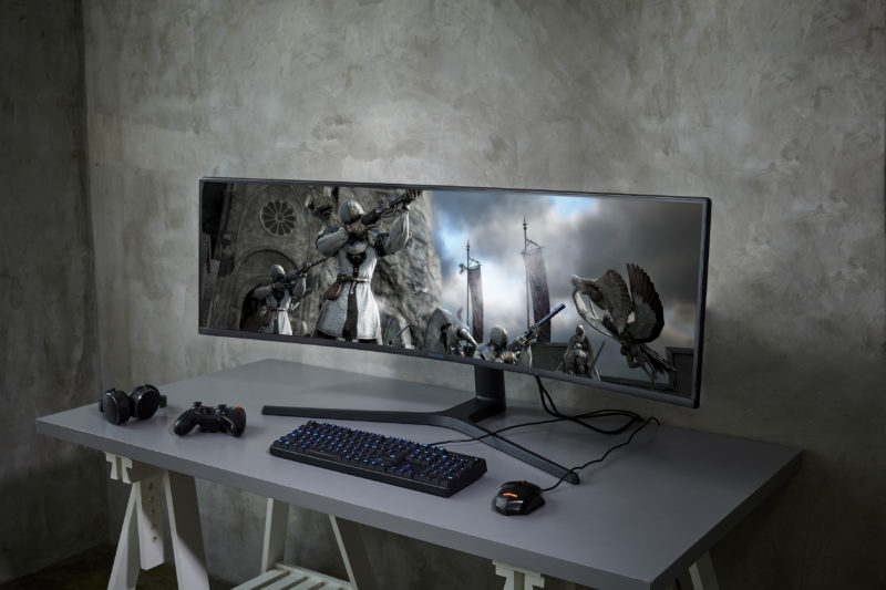 Samsung CRG9 super wide monitor 3